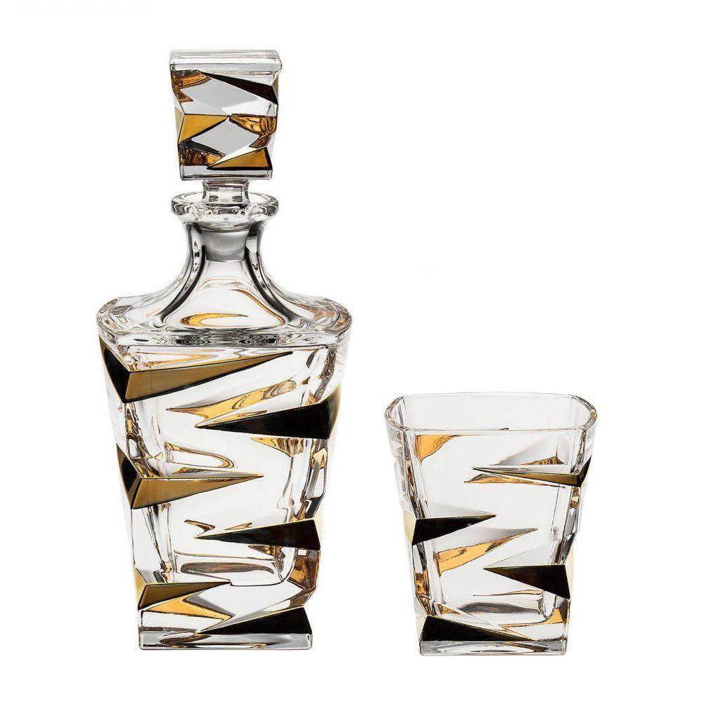 "Набор для виски ""Zig-Zag"" Gold, Bohemia (7 шт.,"